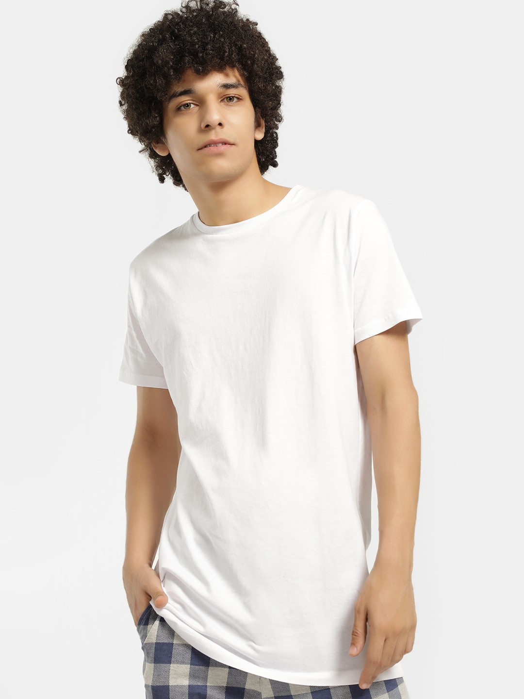 Brave Soul White Basic Short Sleeve Longline T-Shirt 1