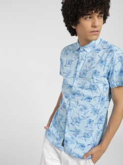 Being Human Floral Leaf Print Reversible Shirt
