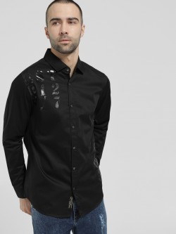 Being Human Rubberised Print Logo Shirt