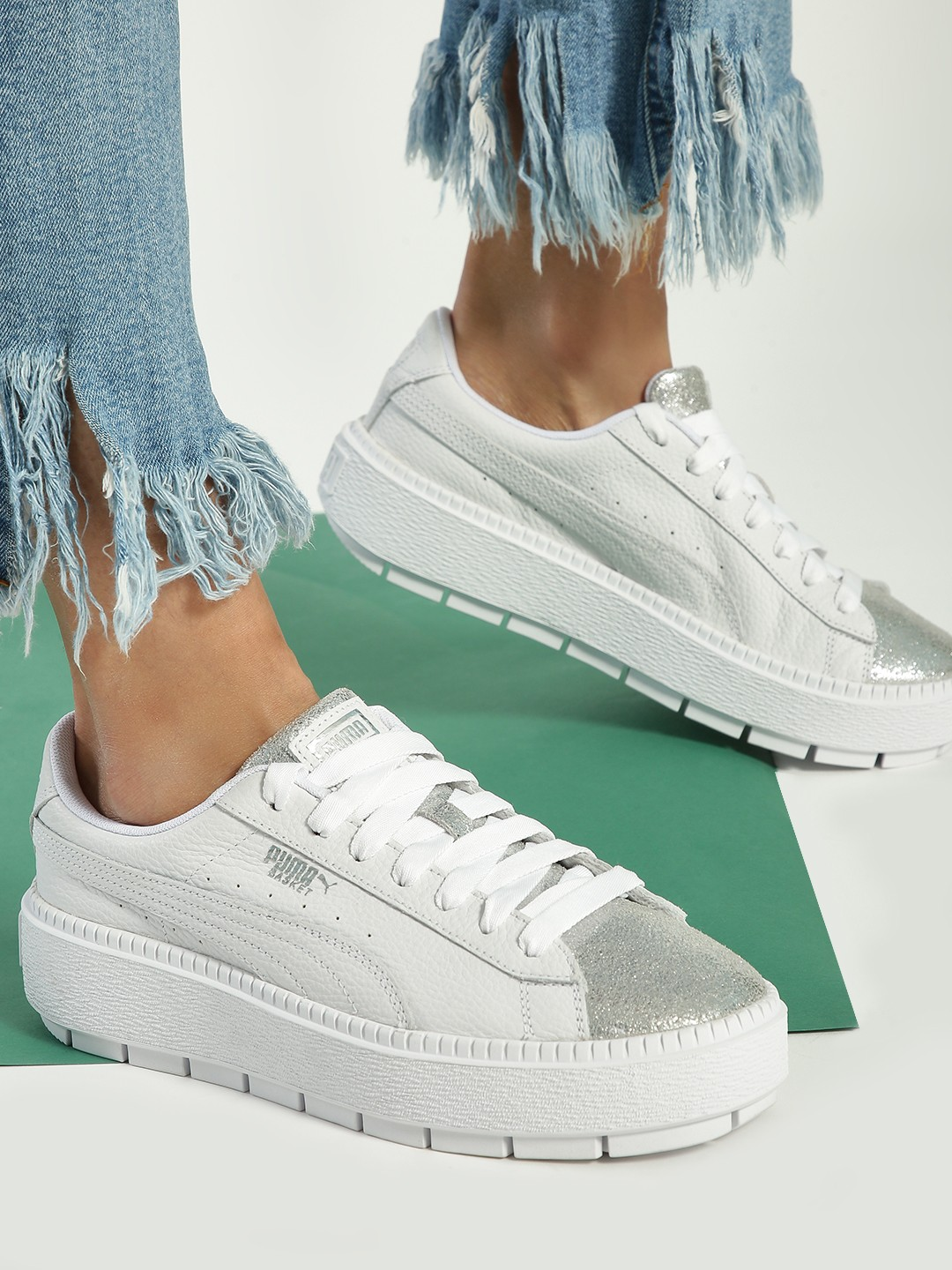 Puma White Muse Maia Metallic Sneakers 1