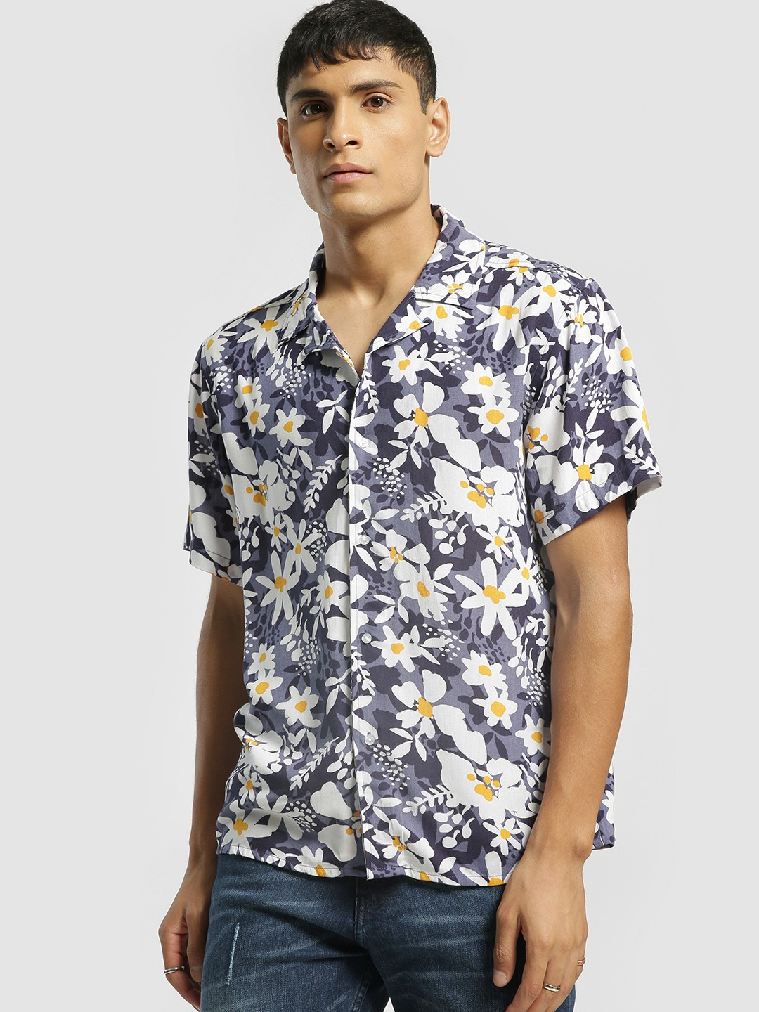KOOVS Multi Cuban Collar Floral Shirt 1