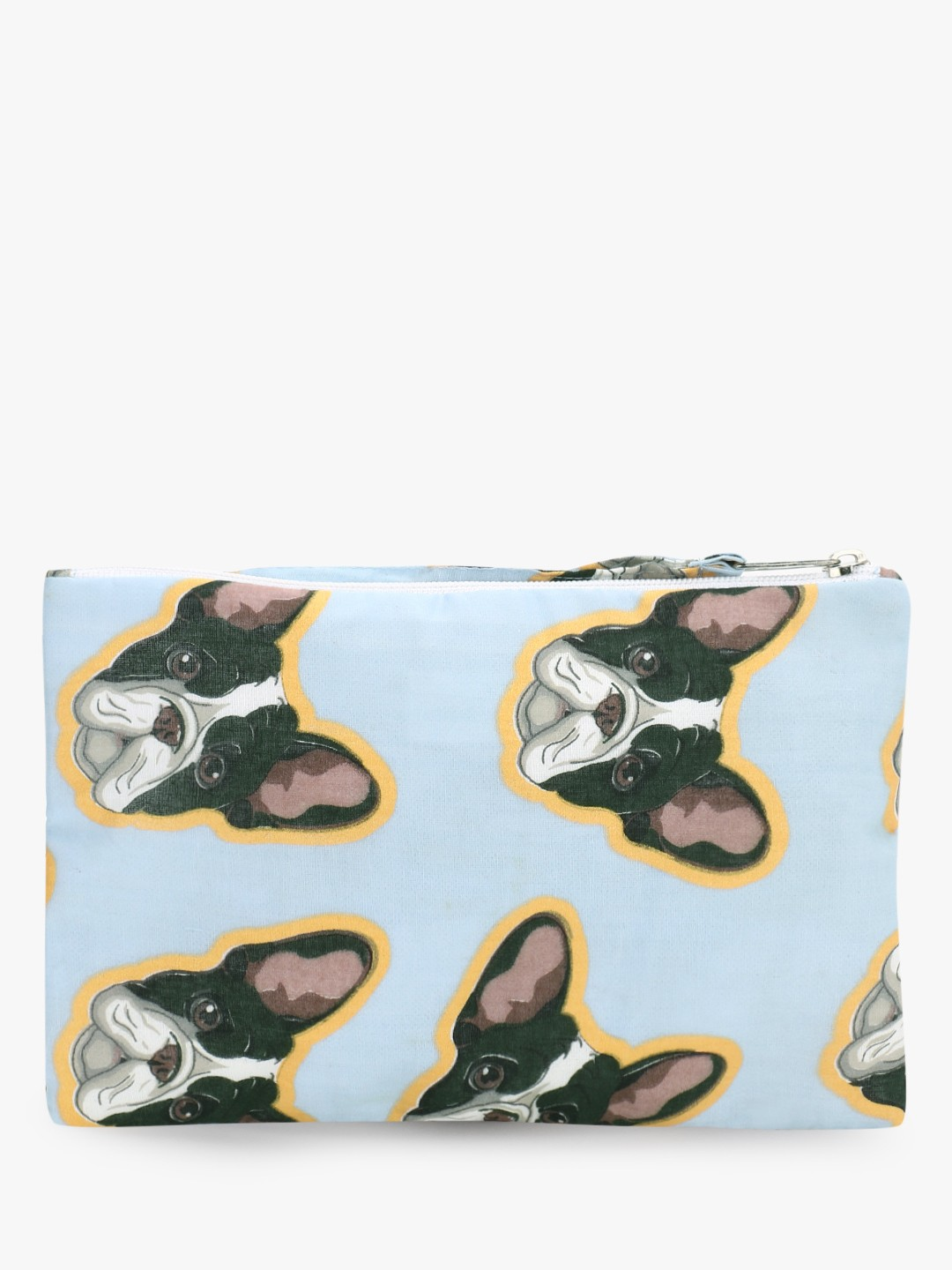 Blueberry Multi All Over Dog Print Pouch 1