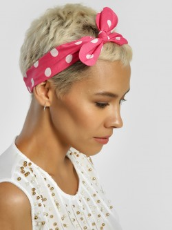 Blueberry Polka Dot Bow Headband