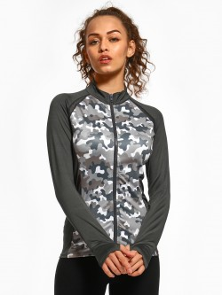 K ACTIVE KOOVS Camo Mesh Panel Jacket
