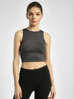 K ACTIVE KOOVS Criss-Cross Back Mesh Crop Top