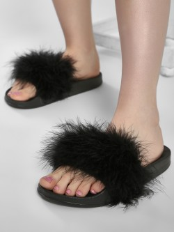 Truffle Collection Fur Slides