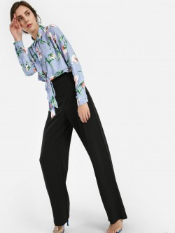 Quiz High Waist Flared Trousers