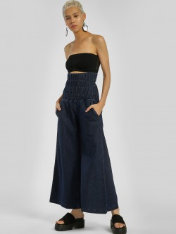 Freakins Smocked Waist Flared Jeans