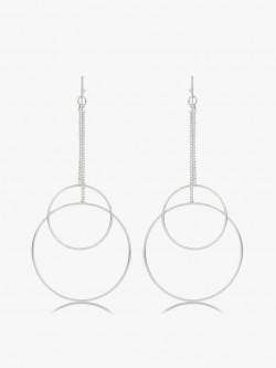 Saks London Double Drop Hoop Earrings