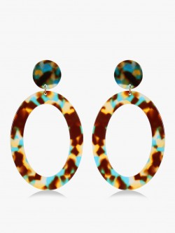 Saks London Resin Drop Down Hoops