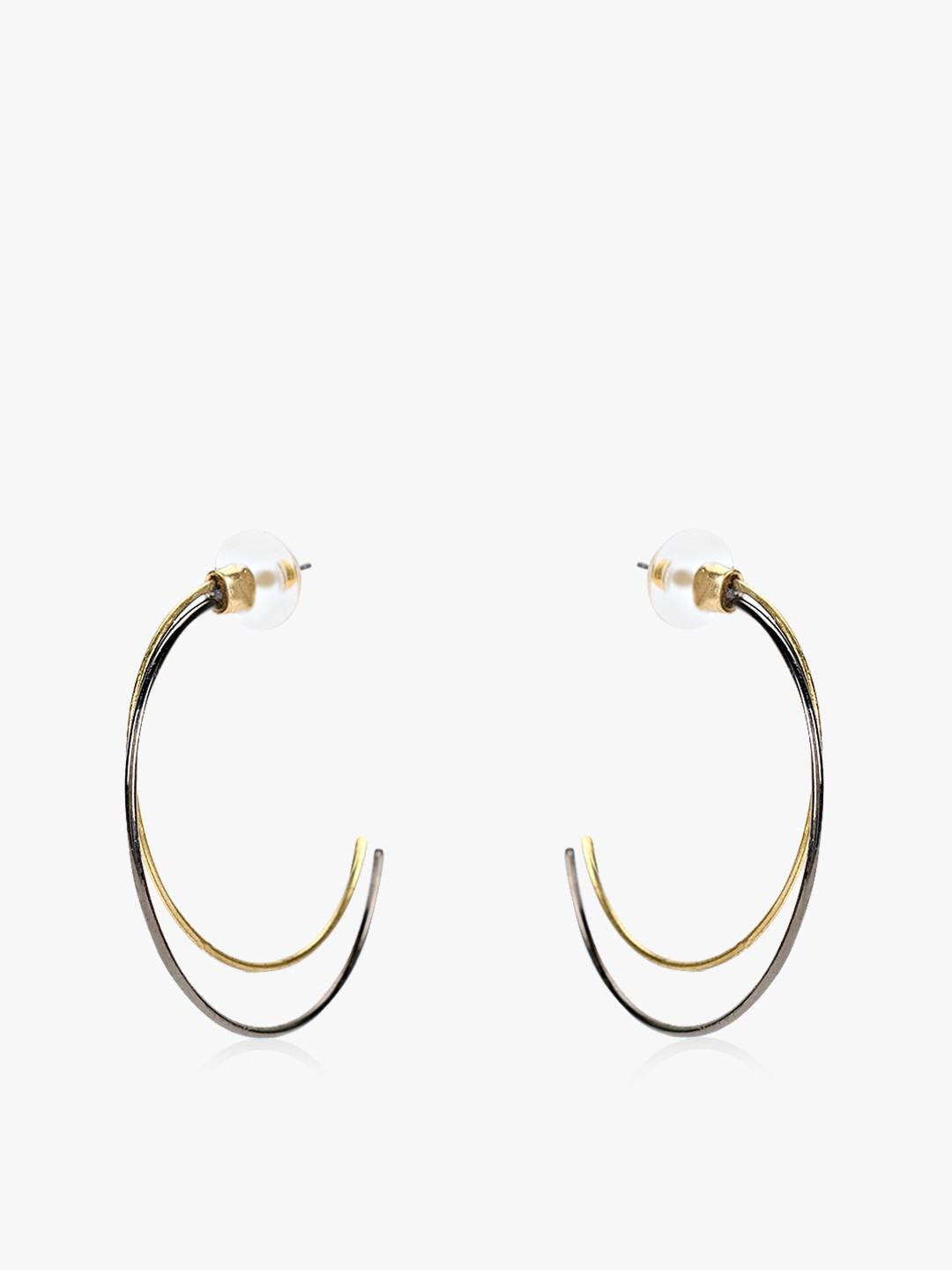 Saks London Multi Elliptic Double Hoops 1
