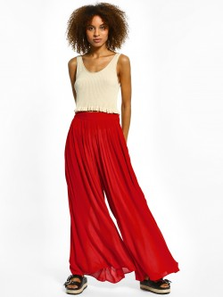The Paperdoll Company Pleated Wide-Leg Palazzo Pants