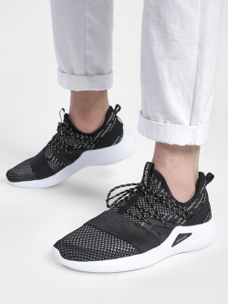 361 Degree Knitted Contrast Panel Running Shoes
