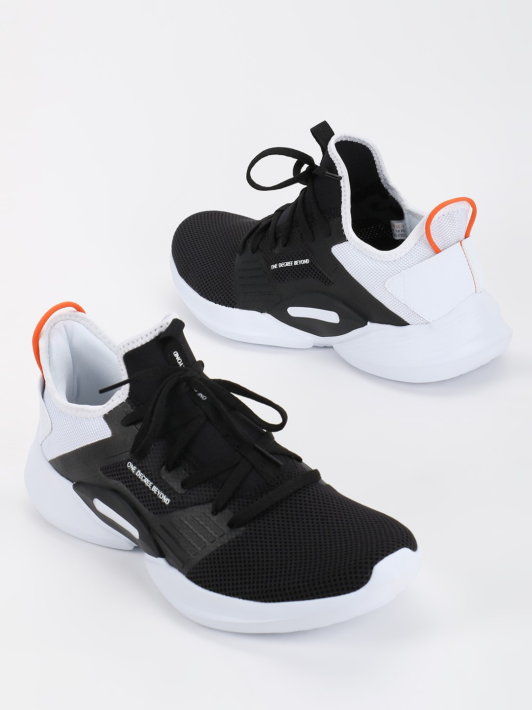361 Degree Black Mesh Knitted Trainers 1
