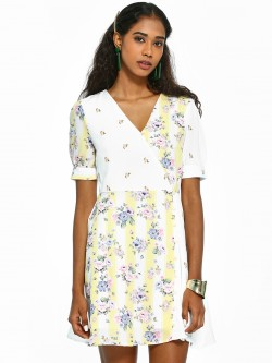 KOOVS Mix Floral Skater Dress