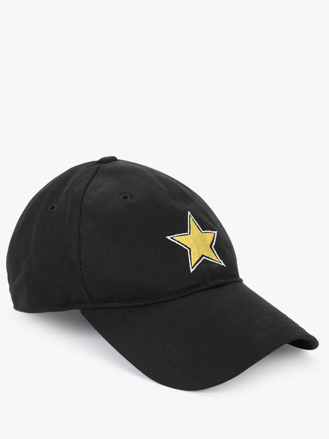 Lazy Panda Black Star Embroidered Cap 1