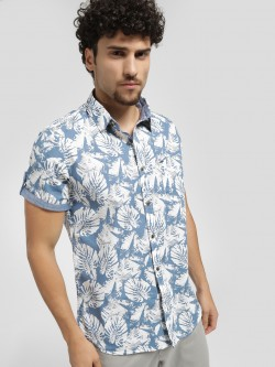 Lee Cooper Tropical Print Short Sleeve Shirt
