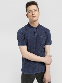 Lee Cooper Washed Short Sleeve Polo Shirt
