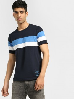 Lee Cooper Colour Block Stripe T-Shirt