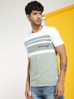 Lee Cooper Colour Block Crew Neck T-Shirt