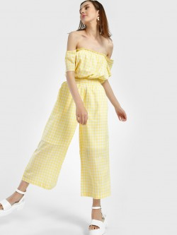 Spring Break Gingham Check Cropped Trousers