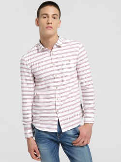 Flying Machine Double Horizontal Stripe Shirt