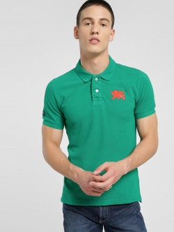 Flying Machine Embroidered Logo Polo Shirt