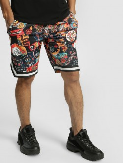 KOOVS Sticker Print Baseball Shorts