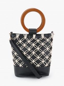 New Look Macrame Bucket Bag