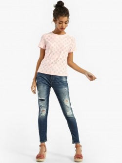Lee Cooper Distressed Light Wash Skinny Jeans