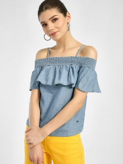 Lee Cooper Frill Cold Shoulder Blouse