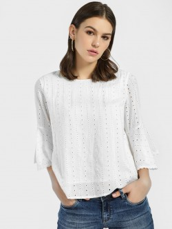 Lee Cooper Broderie Lace Detail Blouse