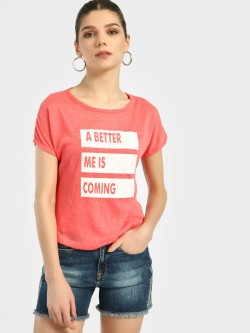 Lee Cooper Slogan Print Knitted T-Shirt