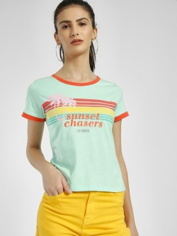 Lee Cooper Sunset Chasers Tropical Print T-Shirt