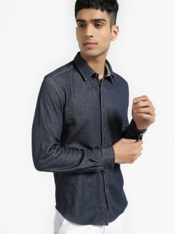 UMM Slim Fit Knitted Shirt