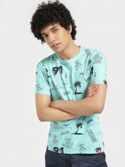 UMM Tropical Island Print T-Shirt