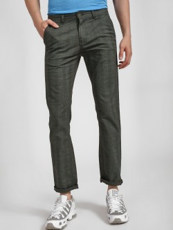 Buffalo Glen Check Slim Trousers