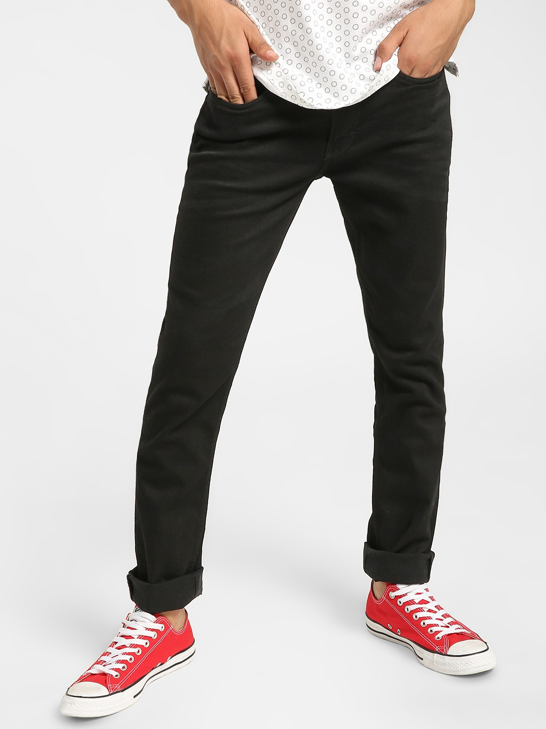 UMM Black Basic Slim Jeans 1
