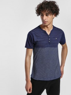 Buffalo Striped Henley Short Sleeve T-Shirt