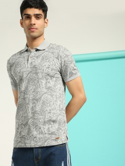 UMM BUFFALO Tropical Print Polo T-Shirt