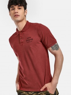 Buffalo Text Placement Print Polo Shirt