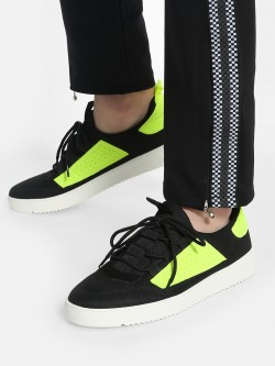 KOOVS Contrast Patch Panel Sneakers