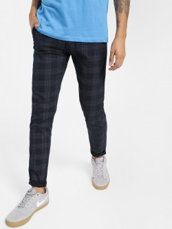 AMON Windowpane Check Slim Trousers