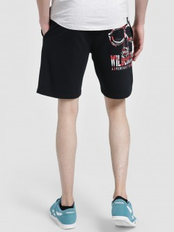 Leo Sansini Back Slogan Placement Print Shorts