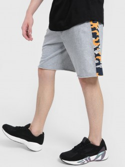 Leo Sansini Side Camo Panel Raw Hem Shorts