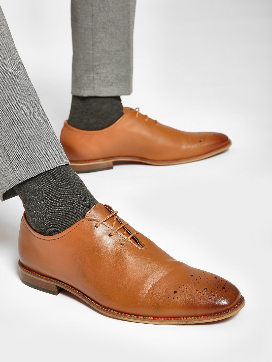 Bolt Of The Good Stuff Brown Brogue Punches Oxford Shoes 1