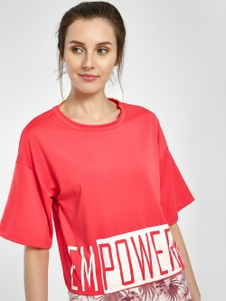 K ACTIVE Empowered Print Crop T-Shirt