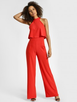 Quiz Halter Neck Wide Leg Jumpsuit