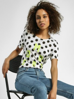 United Colors of Benetton Modern & Polka Dot Print T-Shirt