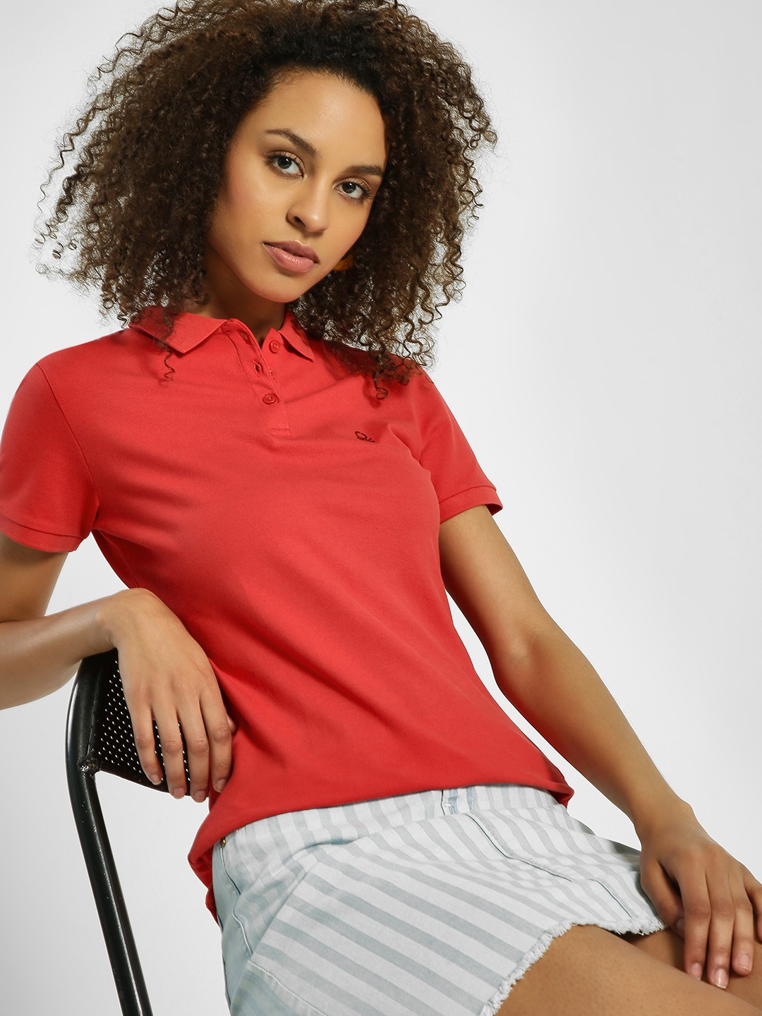 United Colors of Benetton Red Basic Logo Polo T-Shirt 1